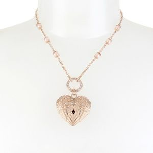 🆕 Rose Gold-Tone  &Imitation pearl winged Heart